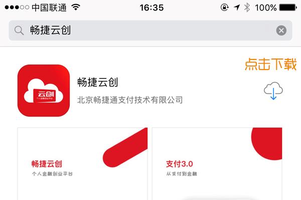 中付电签苹果APP下载界面
